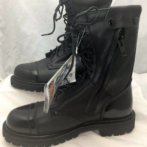 "Rocky Jump Boot 10"" Black Leather Mens Size 10W"